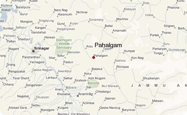 Pahalgam Map